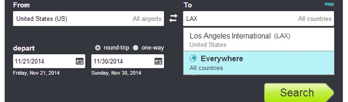 Skyscanner Everywhere Search: Where to Next?