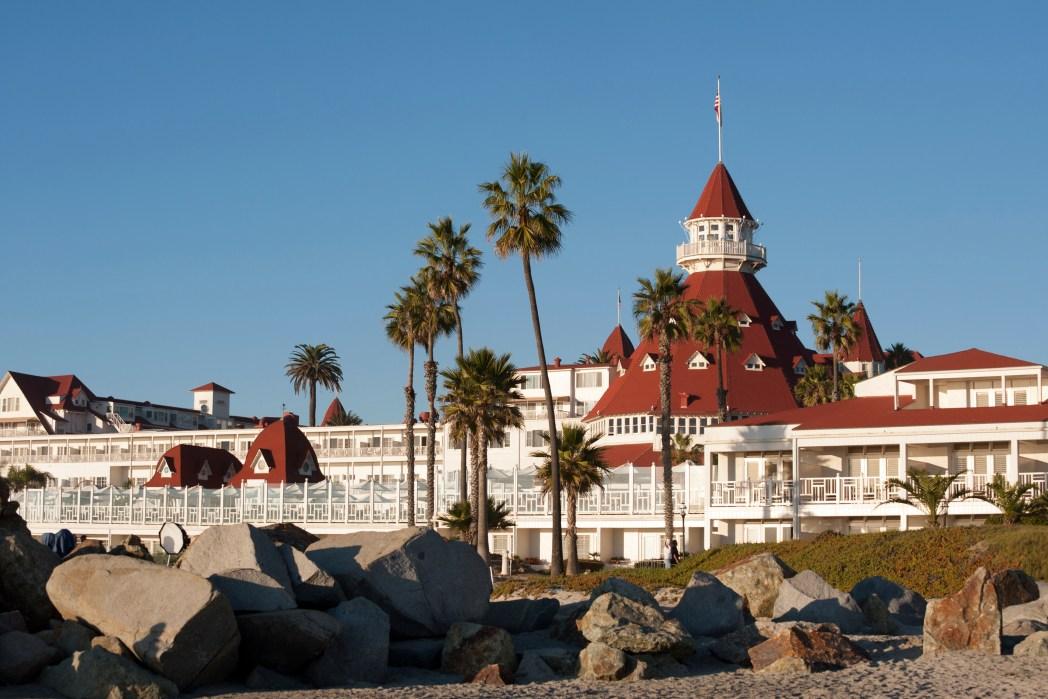 View of Hotel del Coronado in San Diego, California. Thanksgiving Weekend Getaways