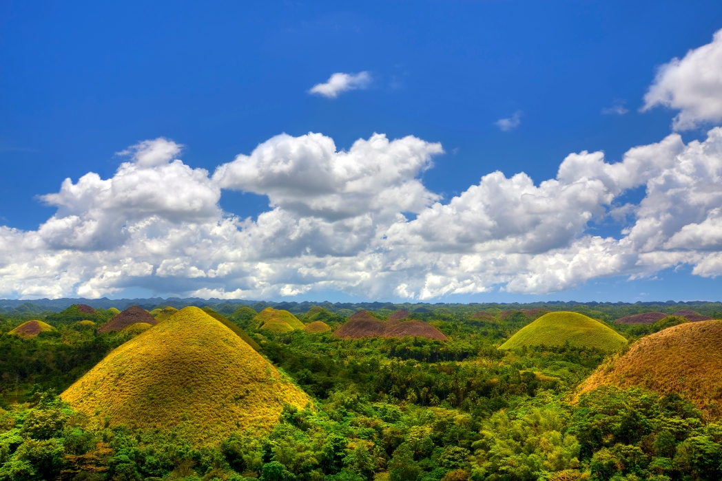 Chocolate hills in Bohol, the Philippines