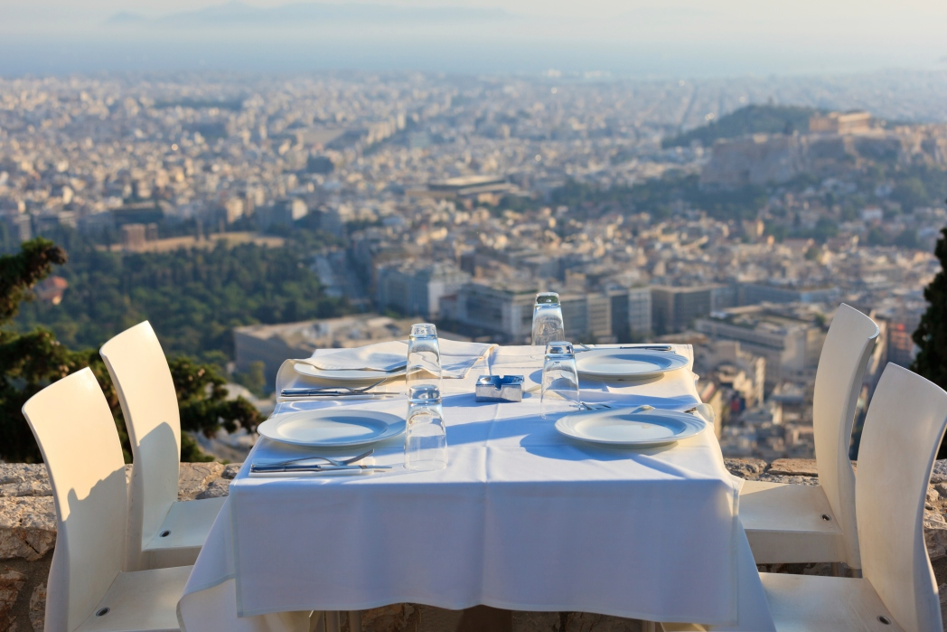 dining in Athens, Greece
