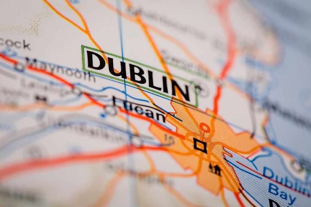 Map of Dublin, Ireland