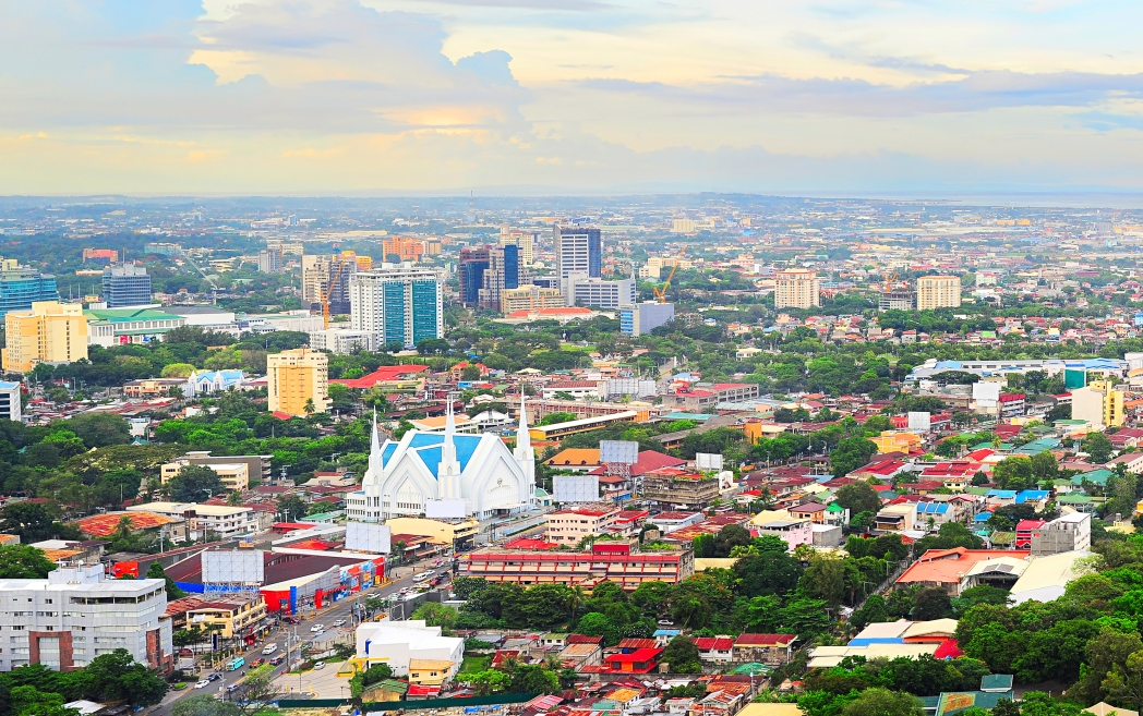 view of Cebu City from above