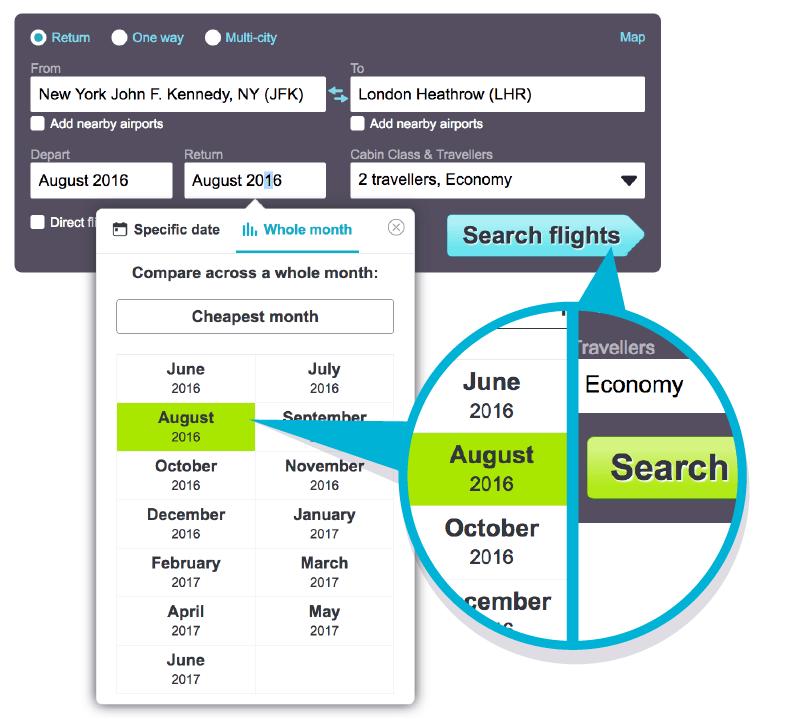Select Whole Month View Desktop Search